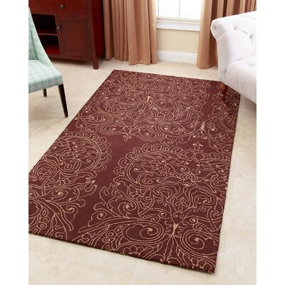 Arnault Hand-Tufted Brown Area Rug Rug Size: 5 x 8
