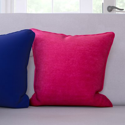 Palermo Throw Pillow Color: Crimson, Size: 22 H x 22 W