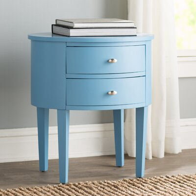 Canterbury 2 Drawer End Table Finish: Sky Blue