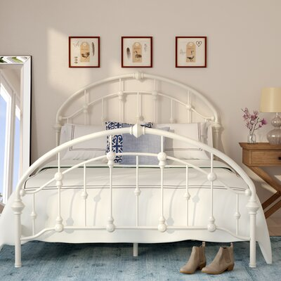 Emmalina Panel Bed Size: Queen, Finish: Ivory