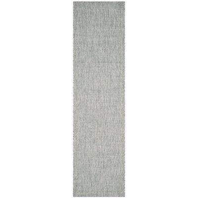 Adelia Gray/Turquoise Indoor/Outdoor Area Rug Rug Size: Runner 23 x 12