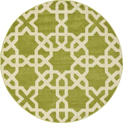 Molly Green Area Rug Rug Size: Round 6