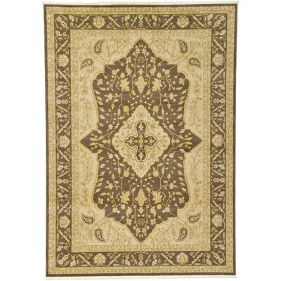 Britley Brown Area Rug Rug Size: Rectangle 7 x 10
