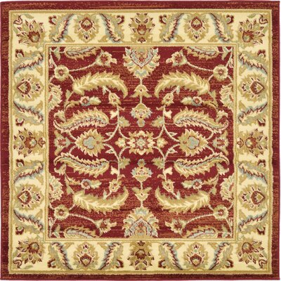 Fairmount Red Area Rug Rug Size: Square 4