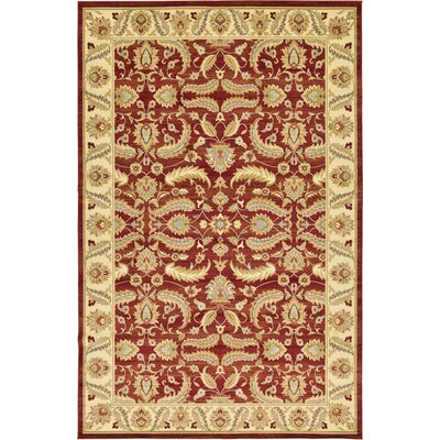Fairmount Red Area Rug Rug Size: 106 x 165
