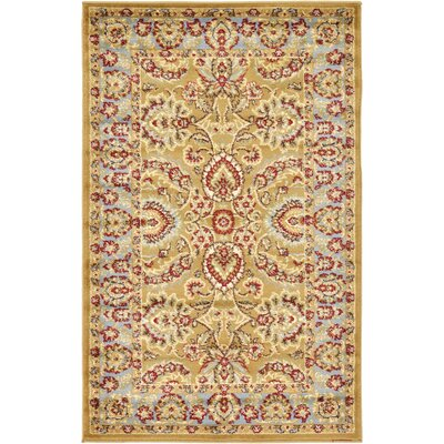 Fairmount Tan Area Rug Rug Size: 33 x 53