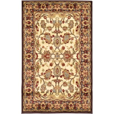Fairmount Traditional Cream Area Rug Rug Size: Rectangle 106 x 165