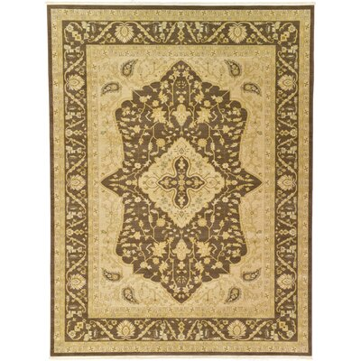 Normanson Brown Area Rug Rug Size: 9 x 12