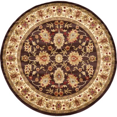 Fairmount Brown Area Rug Rug Size: Round 8