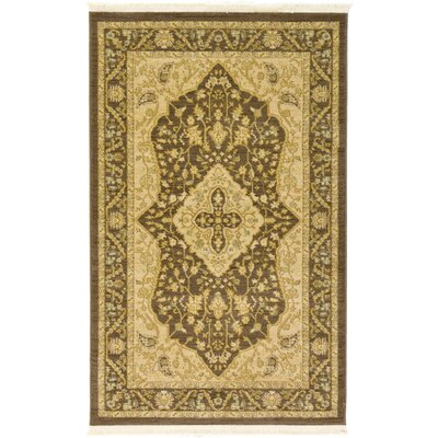 Britley Brown Area Rug Rug Size: Rectangle 33 x 53