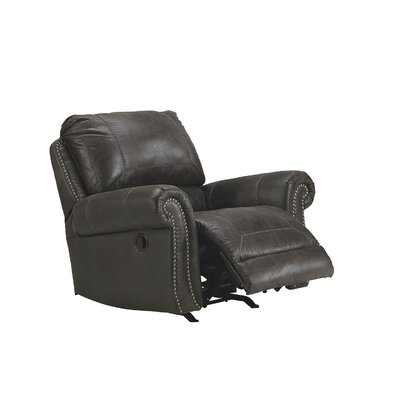 Conesville Manual Rocker Recliner Upholstery: Charcoal