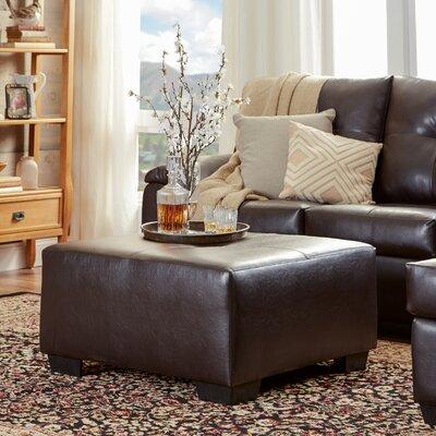 Camden Leather Ottoman Upholstery: San Marino Chocolate