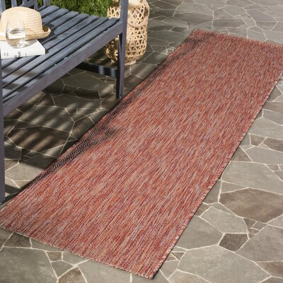 Adelia Red Indoor/Outdoor Area Rug Rug Size: Runner 23 x 8