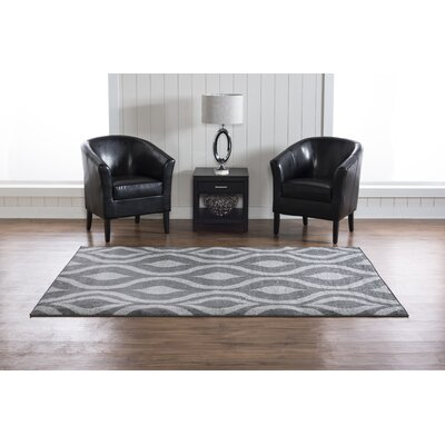 Wellersburg Gray Area Rug Rug Size: Rectangle 5 x 7