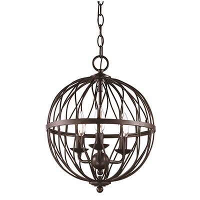 Brittain 3-Light Globe Pendant Finish: Rubbed Oil Bronze