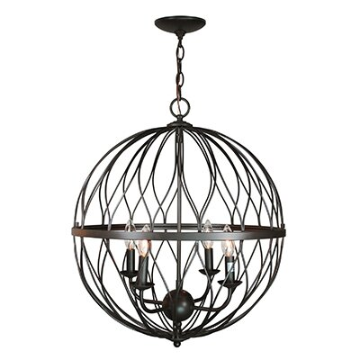 Brittain 4-Light Globe Pendant Finish: Oil Rubbed Bronze