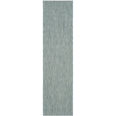 Adelia Aqua / Gray Area Rug Rug Size: Runner 27 x 5