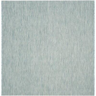 Adelia Aqua/Gray Area Rug Rug Size: Square 67