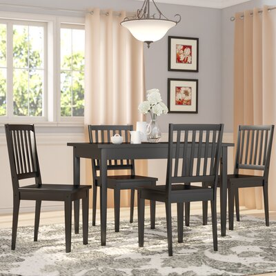 Barryknoll 5 Piece Dining Set Finish: Black