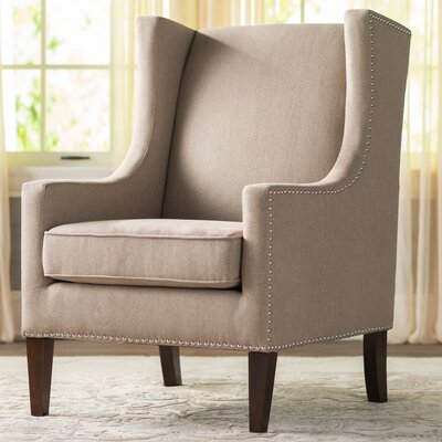 Agnes Wingback Chair Upholstery: Tan