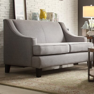 Rhinebeck Loveseat Upholstery: Gray