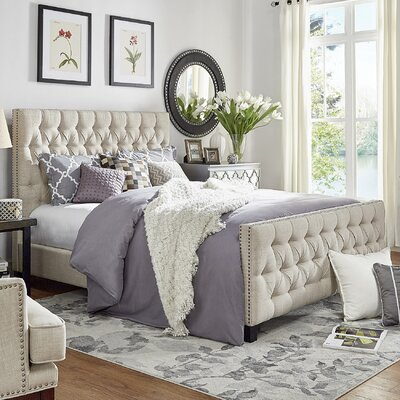 Allison King Upholstered Panel Bed