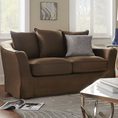Blackwater Loveseat Upholstery: Brown