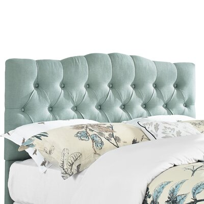 Cleveland Upholstered Panel Headboard Size: Full/Queen, Upholstery: Sea Mist