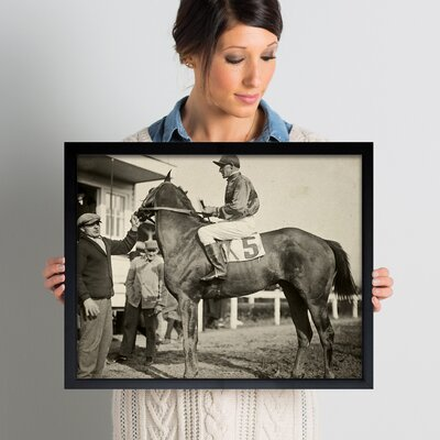'Vintage Jockey' Framed Photographic Print Size: 20