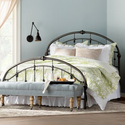 Emmalina Panel Bed Size: Queen, Color: Brushed Bronze