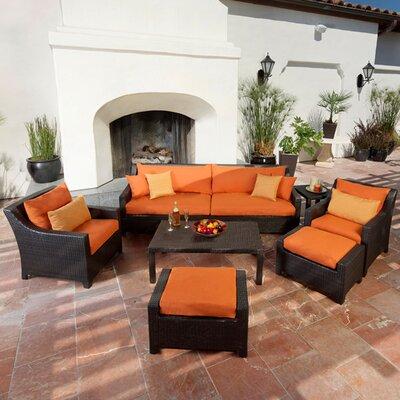 Northridge 8 Piece Deep Seating Group with Cushions Fabric: Tika Orange
