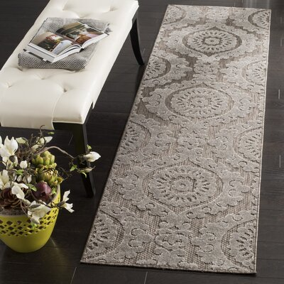 Hughes Suzani Taupe Indoor / Outdoor Area Rug Rug Size: Rectangle 23 x 8