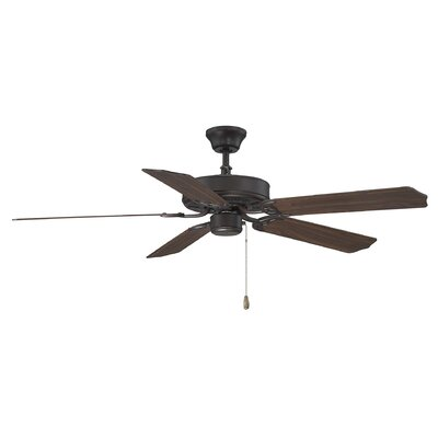 52 Anawan 5-Blade Ceiling Fan Finish: English Bronze with Walnut Blades