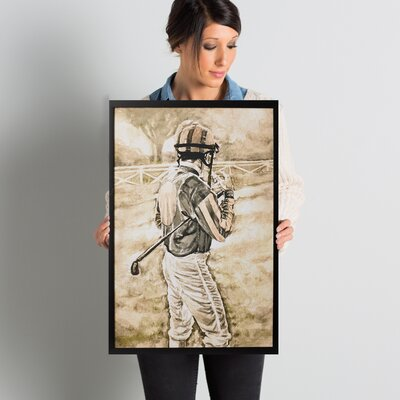 'The Jockey' Framed Painting Print on Wrapped Canvas Size: 24