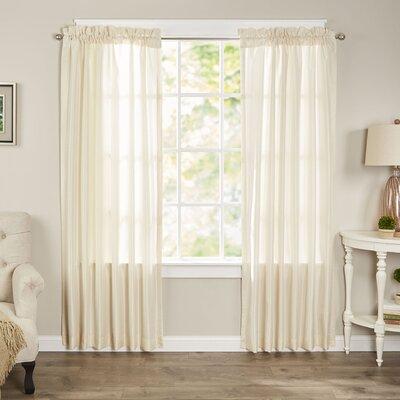 Taylorstown Solid Semi-Sheer Rod Pocket Curtain Panels