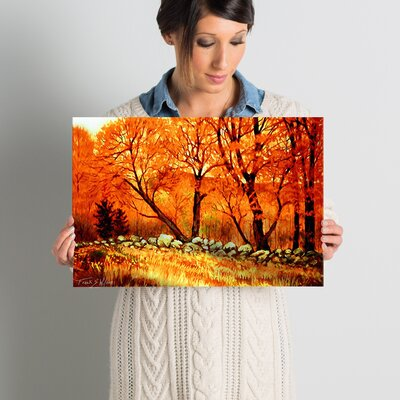 Autumn Blaze Painting Print on Wrapped Canvas Size: 12