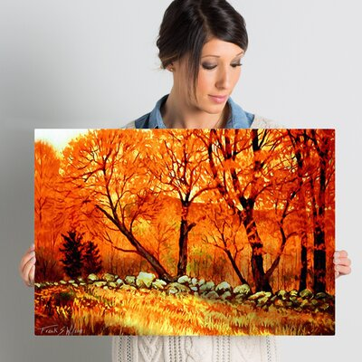 Autumn Blaze Painting Print on Wrapped Canvas Size: 16