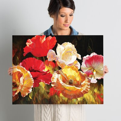 'Poppy Celebration' by Emma Styles Wall Art on Wrapped Canvas Size: 18
