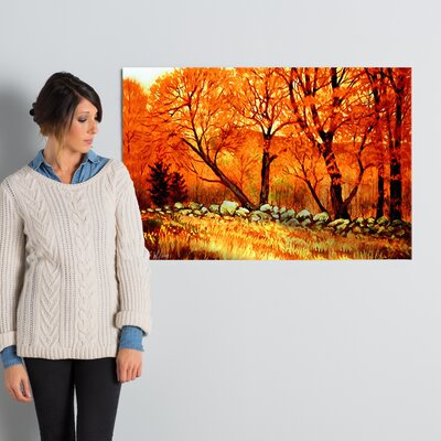 Autumn Blaze Painting Print on Wrapped Canvas Size: 24