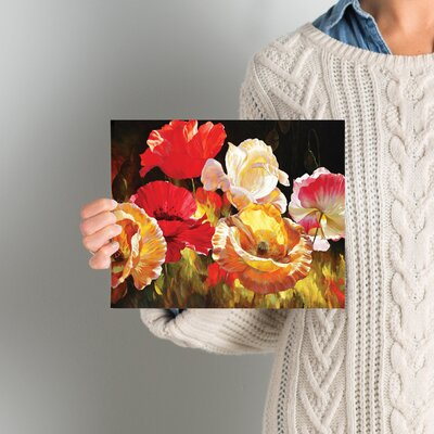 'Poppy Celebration' by Emma Styles Wall Art on Wrapped Canvas Size: 8