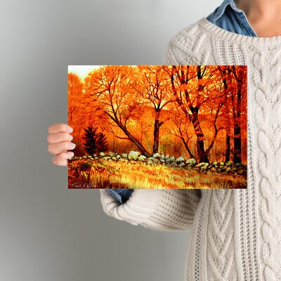 Autumn Blaze Painting Print on Wrapped Canvas Size: 8