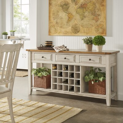 Fortville Buffet Color: Oak/Antique White