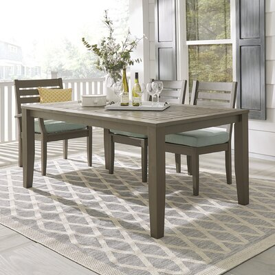 Brook Hollow Dining Table Finish: Gray