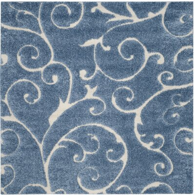 Alison Light Blue / Cream Area Rug Rug Size: 6-7 X 6-7 Square