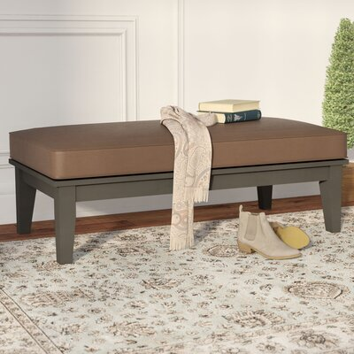 Brook Hollow Coffee Table Fabric: Brown, Finish: Gray