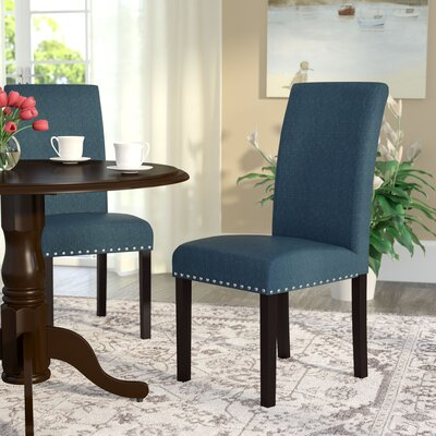 Redfield Side Chair Upholstery: Azure