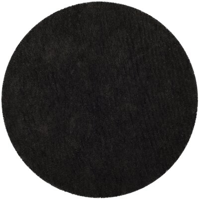 Detweiler Hand-Tufted Charcoal Area Rug Rug Size: Rectangle 3 x 5