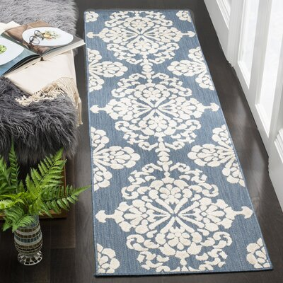 Robinwood Light Blue/Beige Indoor/Outdoor Area Rug Rug Size: Runner 23 x 8