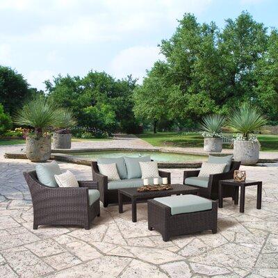 Northridge 6 Piece Deep Seating Group with Cushions Fabric: Spa Blue
