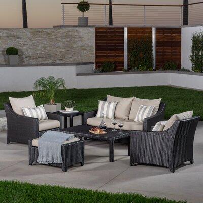 Northridge 6 Piece Deep Seating Group with Cushions Fabric: Slate